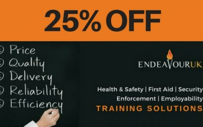 EXTENDED SPRING OFFER – 25% OFF In-House Accredited Training