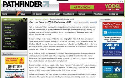 Pathfinder write up on EndeavourUK training